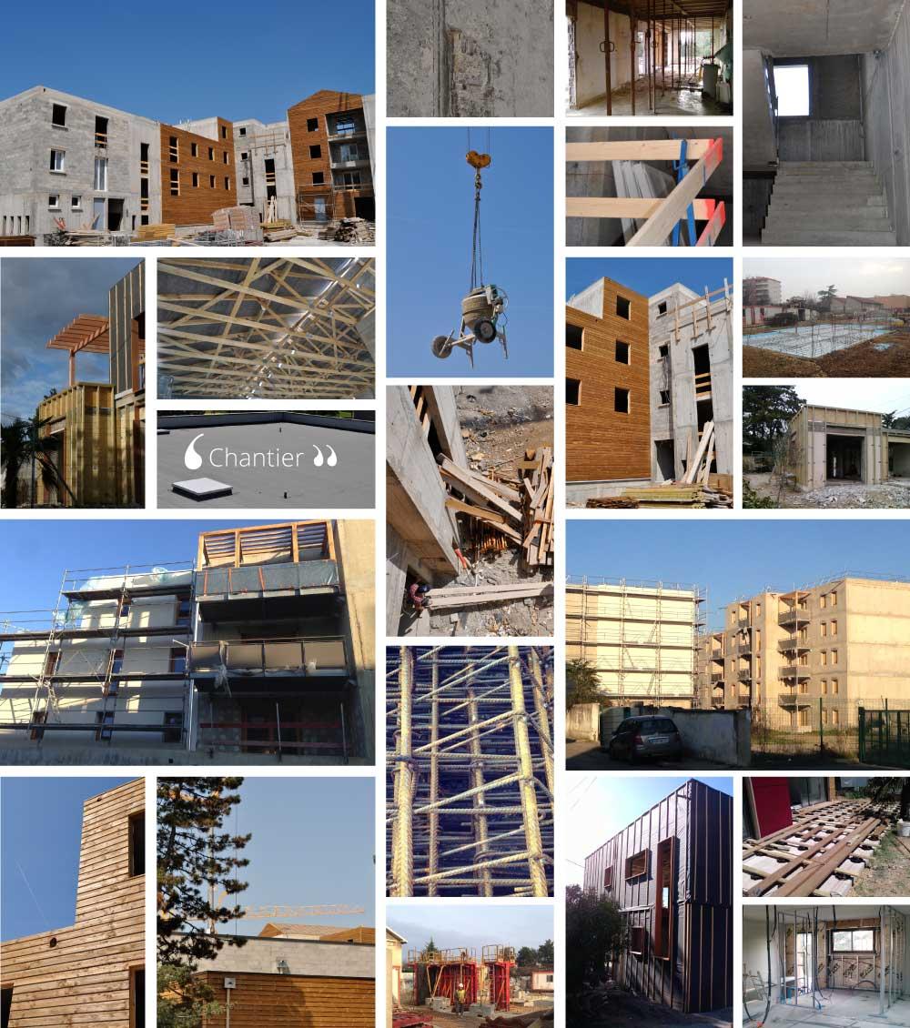 Chantiers de l 39 agence lamboley drome architecte for Chantier architecte